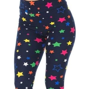 Pants - Navy star high waisted leggings